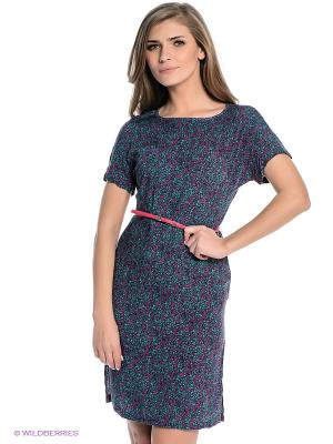 Платье Finn Flare. Цвет: зеленый, фуксия