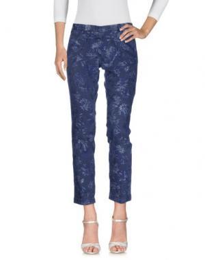 Джинсовые брюки MONOCROM. Цвет: грифельно-синий