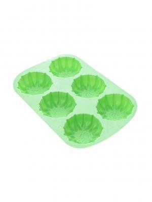 Форма для выпечки, 6 отверстий 28*18,3*3см MARVEL.. Цвет: салатовый