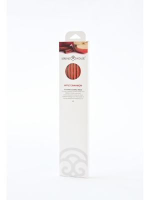 Парфюмерные палочки Яблоко и корица 6 шт SERENE HOUSE. Цвет: оранжевый