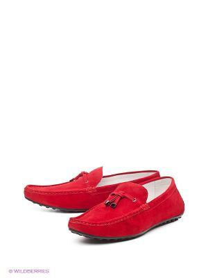 Мокасины Barcelo Biagi. Цвет: темно-красный
