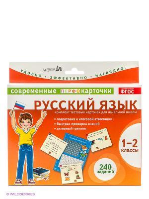 Карточки. Русский язык. 1-2 классы АЙРИС-пресс. Цвет: оранжевый