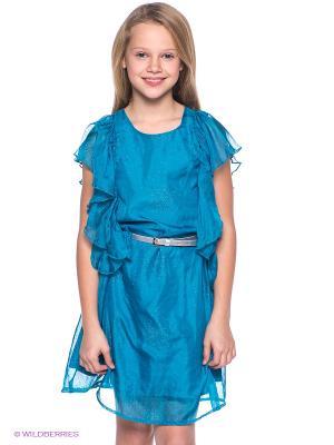 Платье S`Cool. Цвет: бирюзовый
