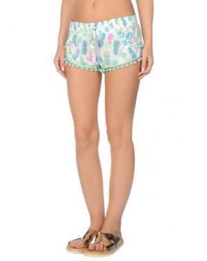 Пляжные брюки и шорты PILYQ Barcelona. Цвет: светло-зеленый