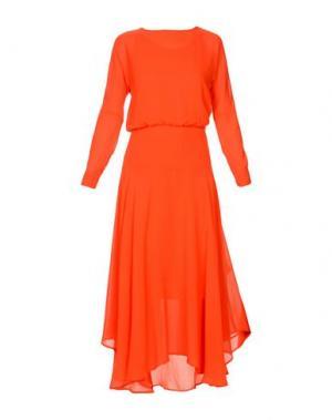 Длинное платье MAJE. Цвет: красный