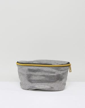 Mi-Pac Серебристая сумка-кошелек на пояс из искусственной кожи. Цвет: серебряный