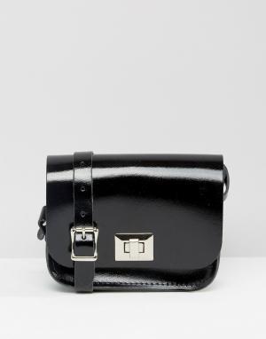 Leather Satchel Company Сумочка через плечо. Цвет: черный