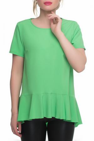 Блуза Петербургский Швейный Дом. Цвет: зеленый