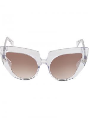 Солнцезащитные очки Diva  Barns Barn's. Цвет: металлический