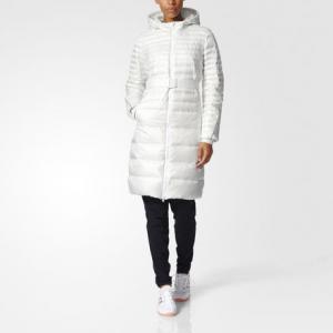 Утепленное пальто Timeless  Performance adidas. Цвет: белый