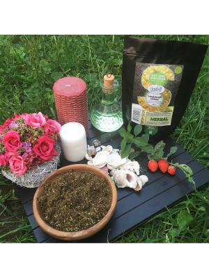 Травяной скраб Мята и клубника с Кунжутным маслом, 200 гр Grosheff. Цвет: зеленый