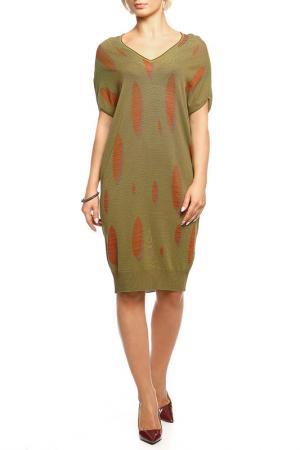 Платье Shes so. Цвет: зеленый