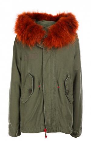 Куртка с капюшоном History Repeats by Femme. Цвет: зеленый