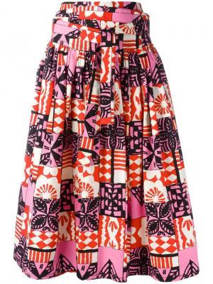 Юбка с присборенной отделкой Marc Jacobs. Цвет: многоцветный