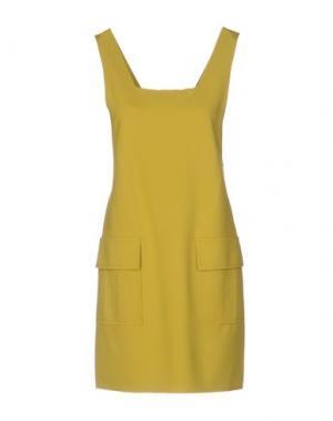 Короткое платье CARLA G.. Цвет: кислотно-зеленый