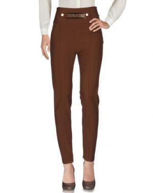 Повседневные брюки SONIA FORTUNA. Цвет: коричневый