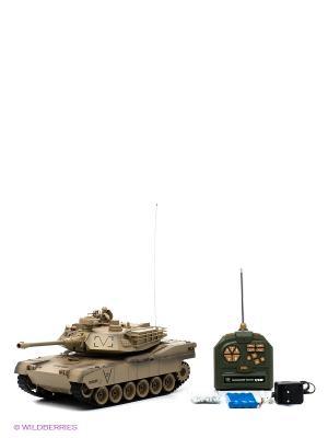 Танк р/у 1:18 Abrams М1А2 (США), ВВ пульки Пламенный мотор. Цвет: хаки