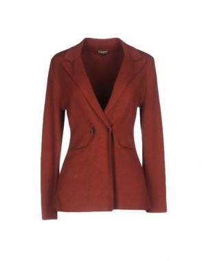 Пиджак MALÌPARMI. Цвет: ржаво-коричневый