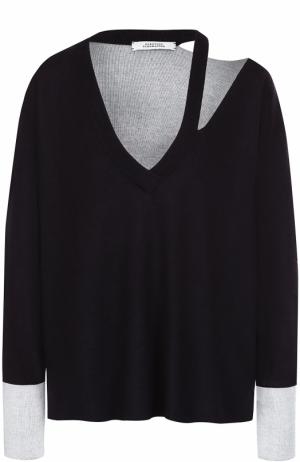 Пуловер из смеси шелка и кашемира Dorothee Schumacher. Цвет: синий
