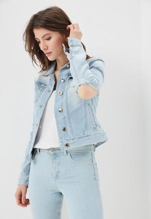 Куртка джинсовая Met. Цвет: голубой