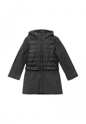 Пальто Modis. Цвет: серый