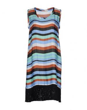 Короткое платье SUOLI. Цвет: лазурный