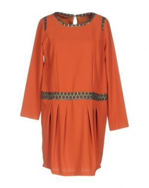 Короткое платье DIDIER PARAKIAN. Цвет: ржаво-коричневый