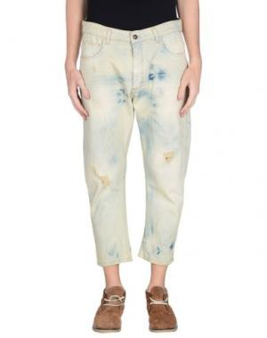 Джинсовые брюки-капри MINIMAL. Цвет: синий