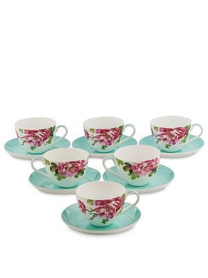 Чайный набор на 6 перс. Тоскана (Toscana Pavone) Pavone. Цвет: белый