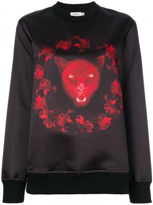 Толстовка с принтом пантеры Givenchy. Цвет: чёрный