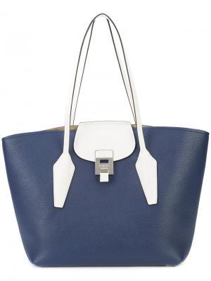 Большая сумка-тоут Bancroft Michael Kors Collection. Цвет: синий