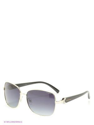 Солнцезащитные очки Polaroid. Цвет: золотистый, серый