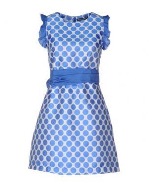 Короткое платье LA CAMICIA BIANCA. Цвет: лазурный