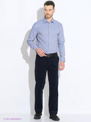 Рубашка INCITY. Цвет: синий, белый, черный