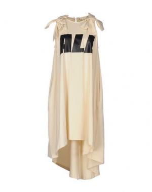 Короткое платье TILL.DA. Цвет: бежевый