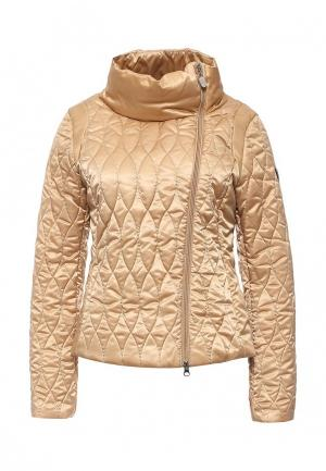 Куртка утепленная EA7. Цвет: бежевый