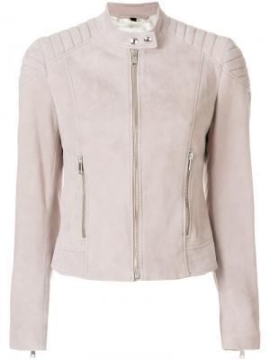 Байкерская куртка Belstaff. Цвет: телесный