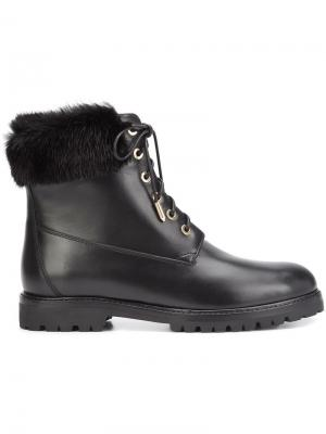 Армейские ботинки Aquazzura. Цвет: чёрный