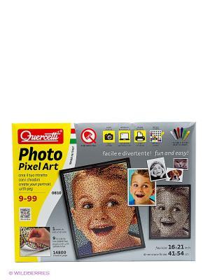 Пиксельная мозаика  серии Арт Любимое фото из 14800 элементов. Quercetti. Цвет: белый
