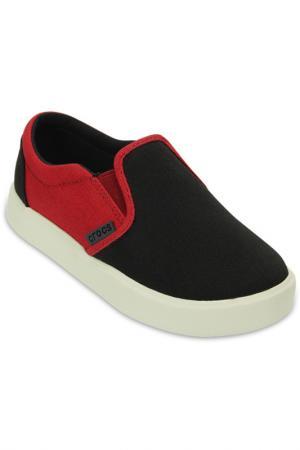 Кеды Crocs. Цвет: черный, красный