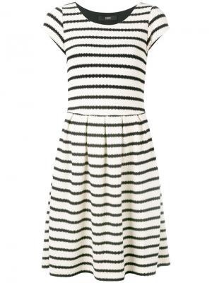 Платье в полоску Steffen Schraut. Цвет: белый