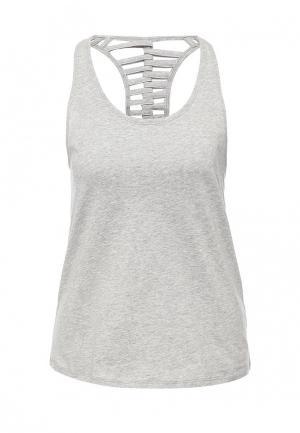 Майка спортивная Gym & Soul. Цвет: серый