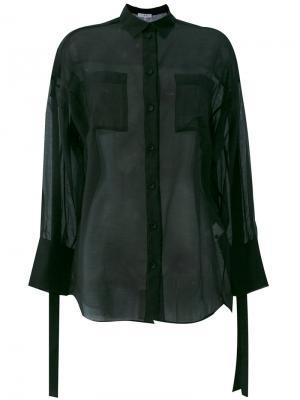 Полупрозрачная рубашка с ремешками Iro. Цвет: чёрный