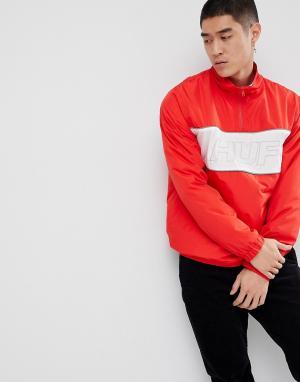 HUF Красная спортивная куртка с молнией и светоотражающей отделкой Sta. Цвет: красный