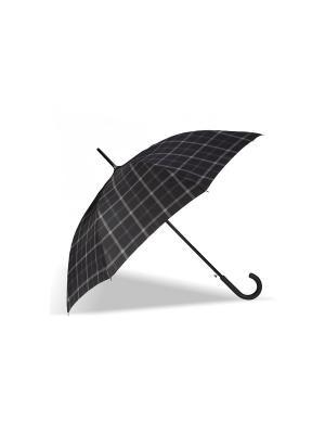 Зонт Isotoner. Цвет: серый, черный, синий