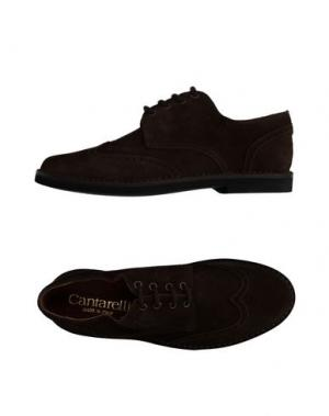 Обувь на шнурках CANTARELLI. Цвет: темно-коричневый