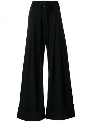 Расклешенные брюки Mustang Ann Demeulemeester. Цвет: чёрный