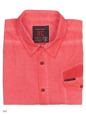 Рубашка IFC. Цвет: светло-коралловый