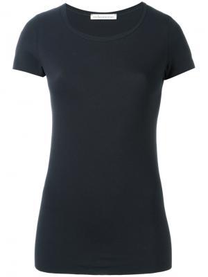 Обтягивающая футболка Stefano Mortari. Цвет: синий