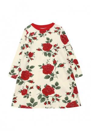 Платье КотМарКот. Цвет: бежевый